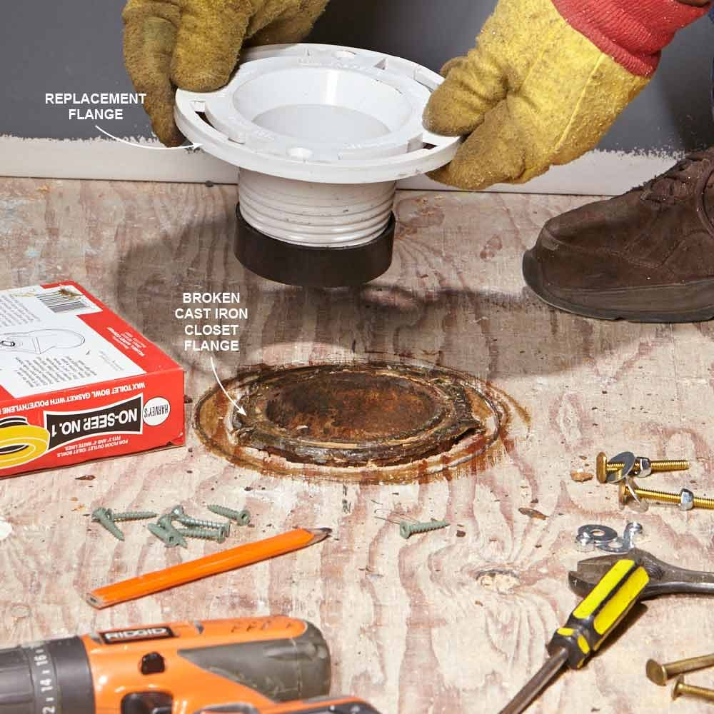 Toilet Flange Installation New Construction : Plumbing help for the pros common problems and