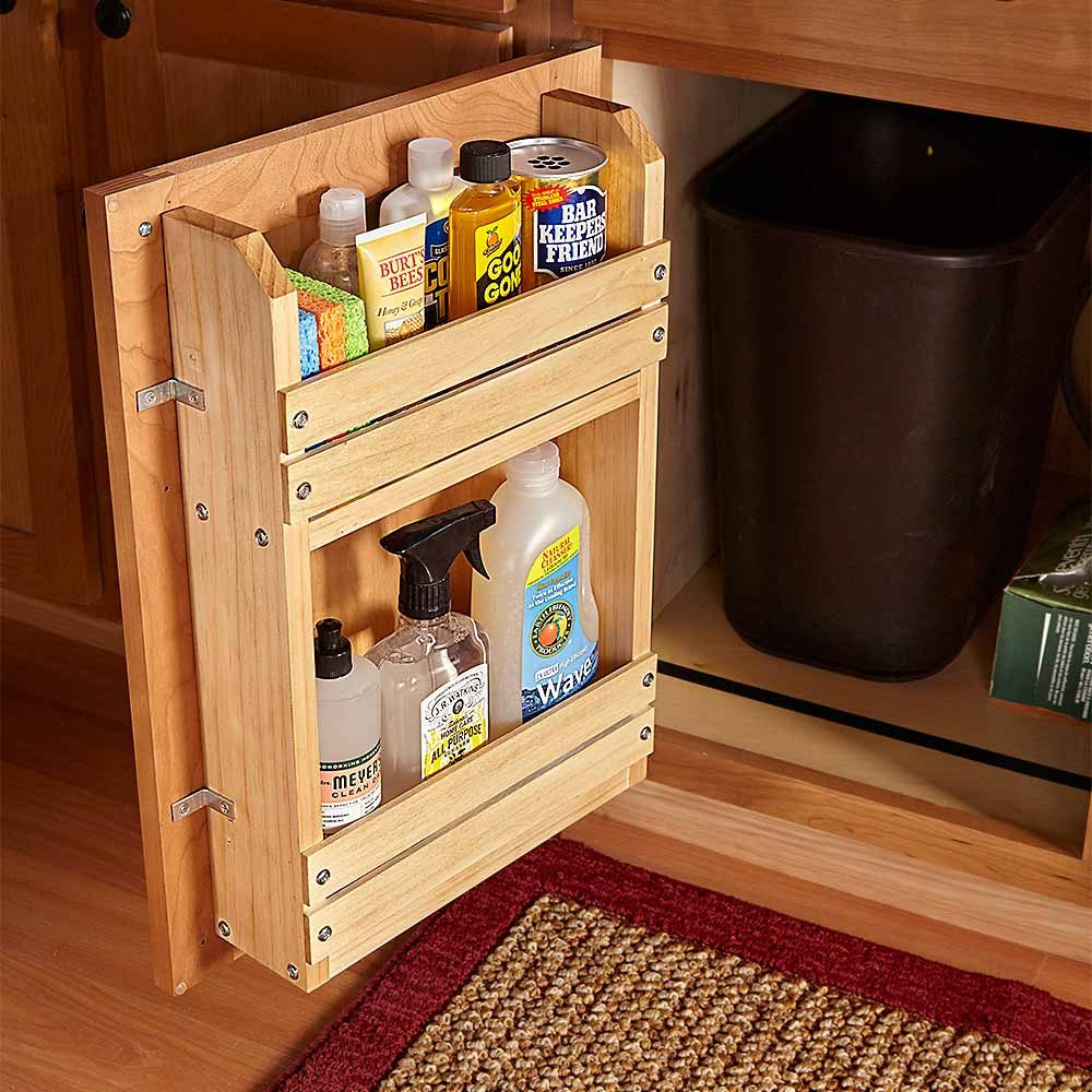 18 Inspiring Inside Cabinet Door Storage Ideas The