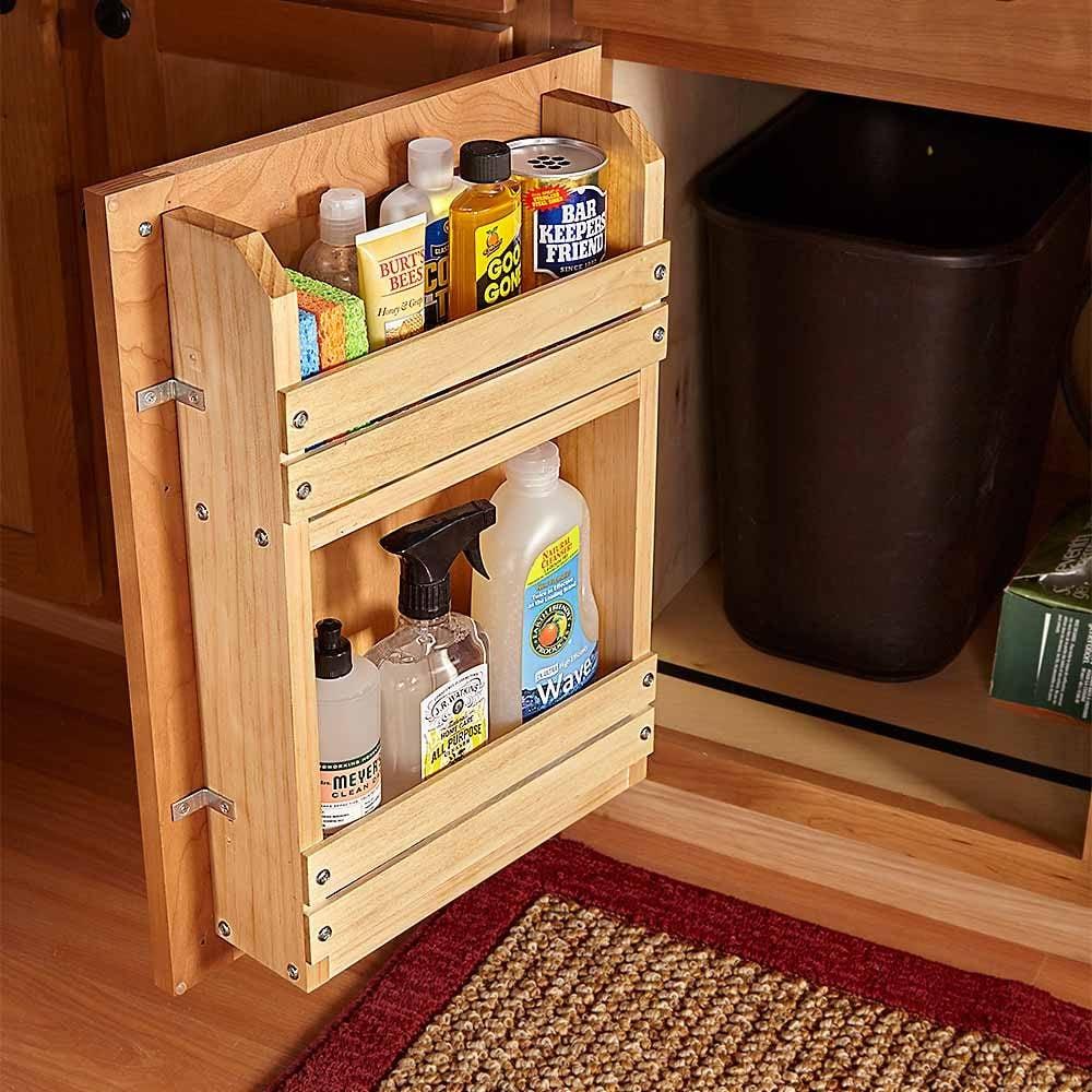18 Inspiring Inside Cabinet Door Storage Ideas The