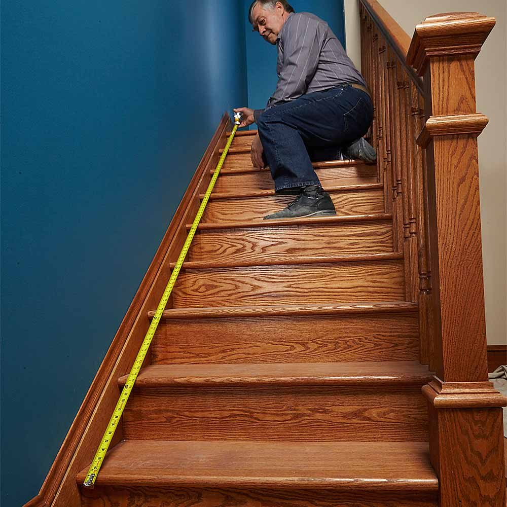 Measure From the Bottom Stair Nose to the Top Stair Nose