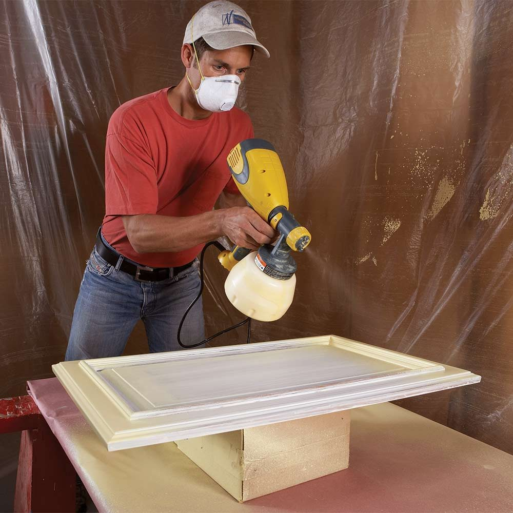 spray painting the doors with a little practice and a good sprayer. Black Bedroom Furniture Sets. Home Design Ideas