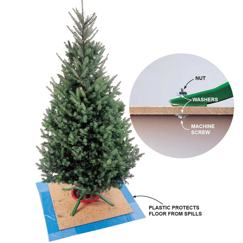 Tip-Proof a Christmas Tree