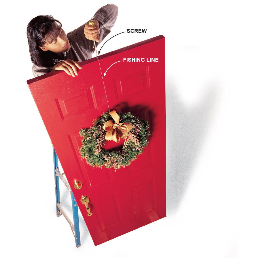 Hang a Wreath on a Door