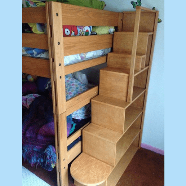 bunk bed with stairs storage bunk bed storage stairs built from poplar ...