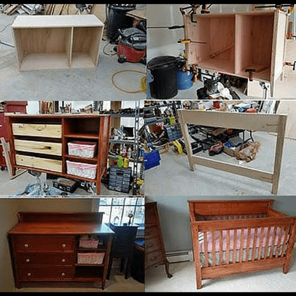 DIY Crib and Changing Table