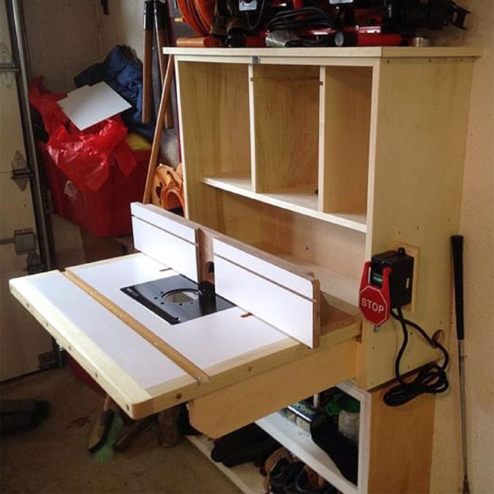 10 real life wood workbench plans and inspiration photos for Router work table