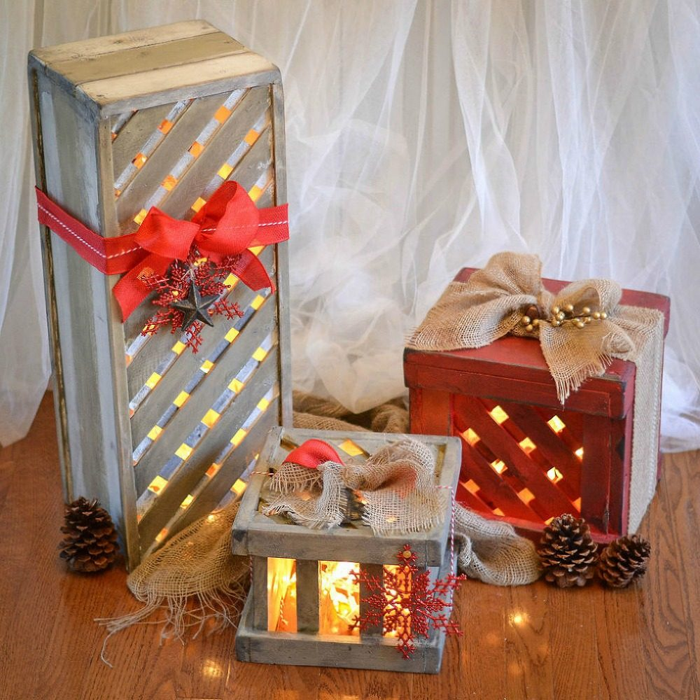 Light-Up Porch Presents
