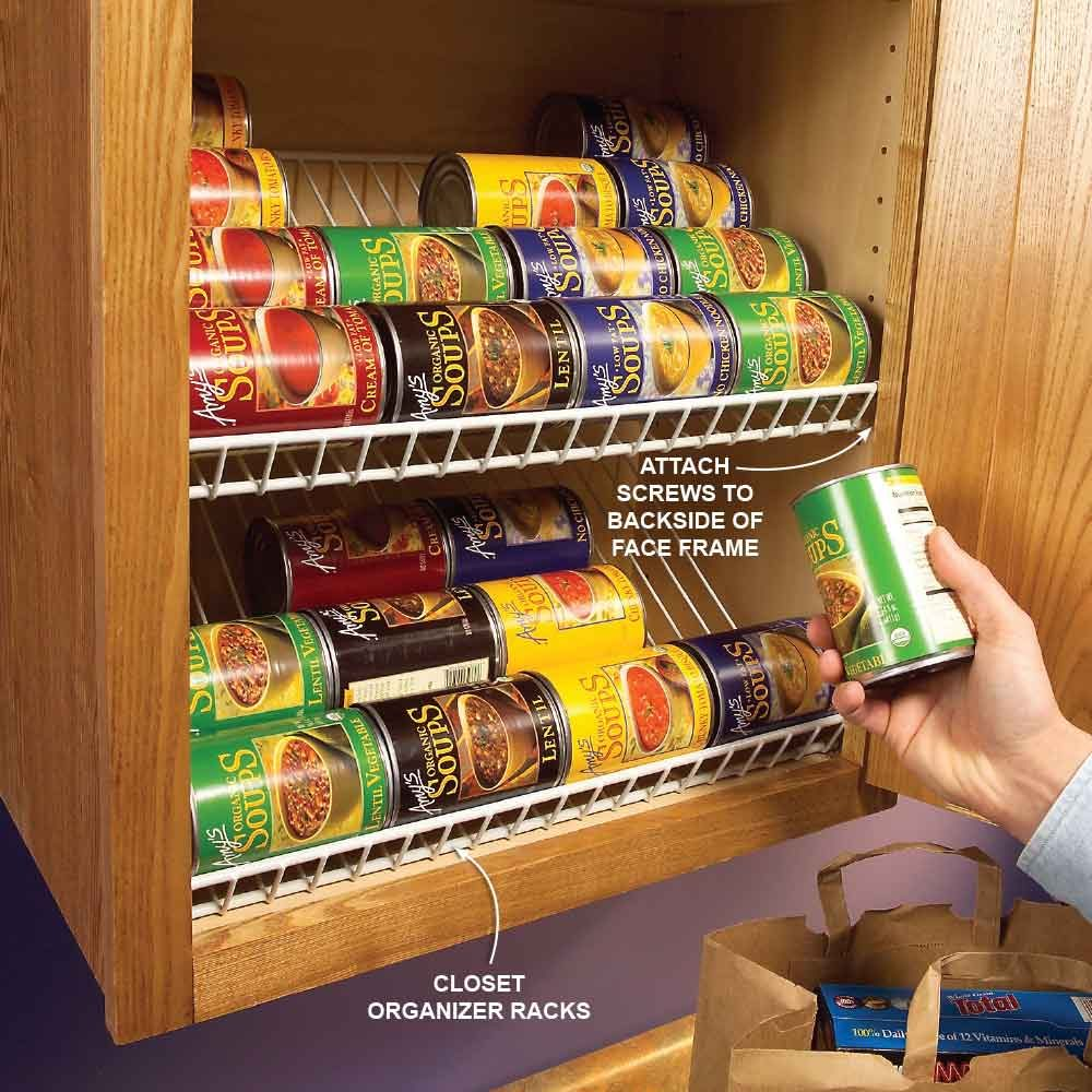 clever kitchen cabinet & pantry storage ideas | the family handyman