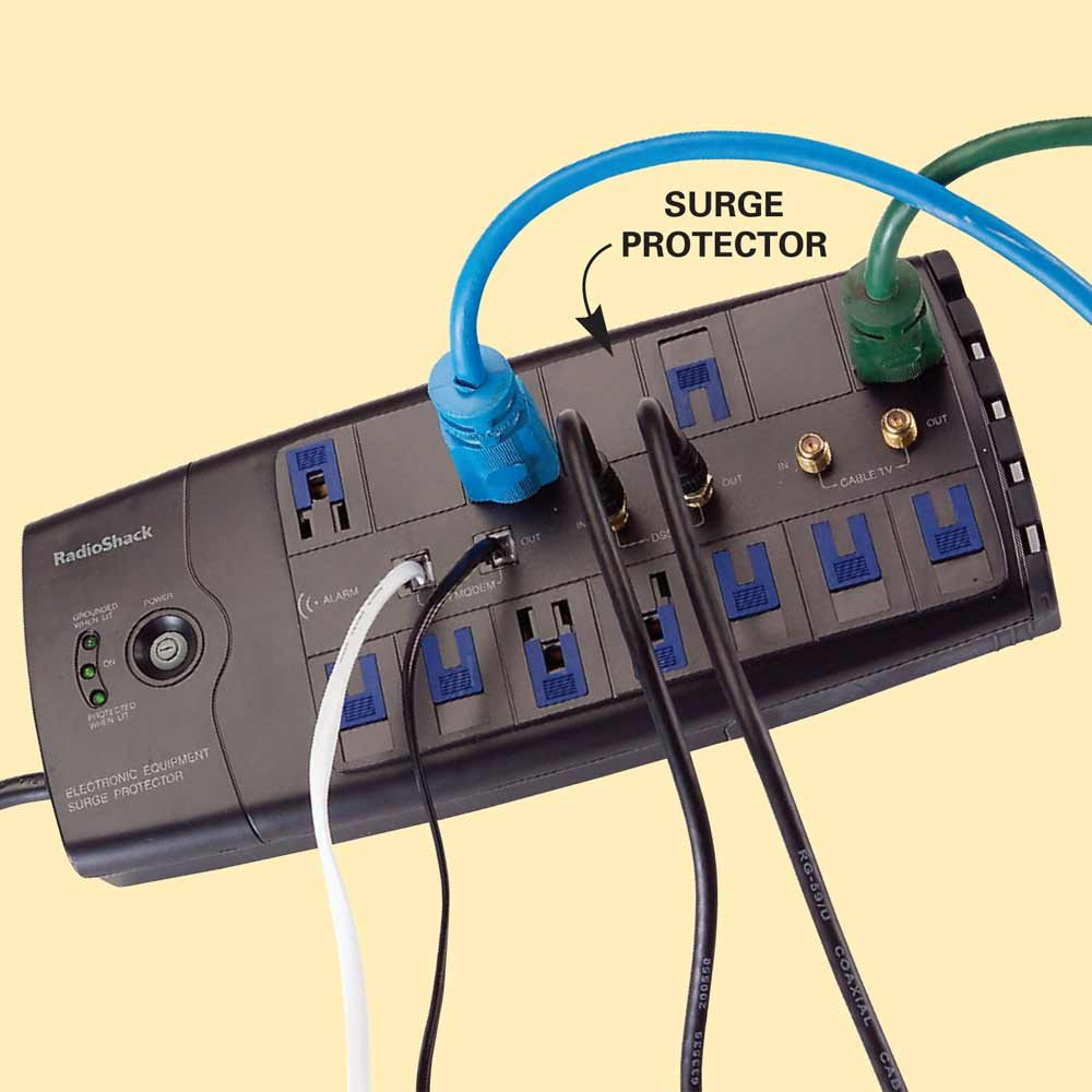 Install Surge Protectors to Protect your Microprocessors