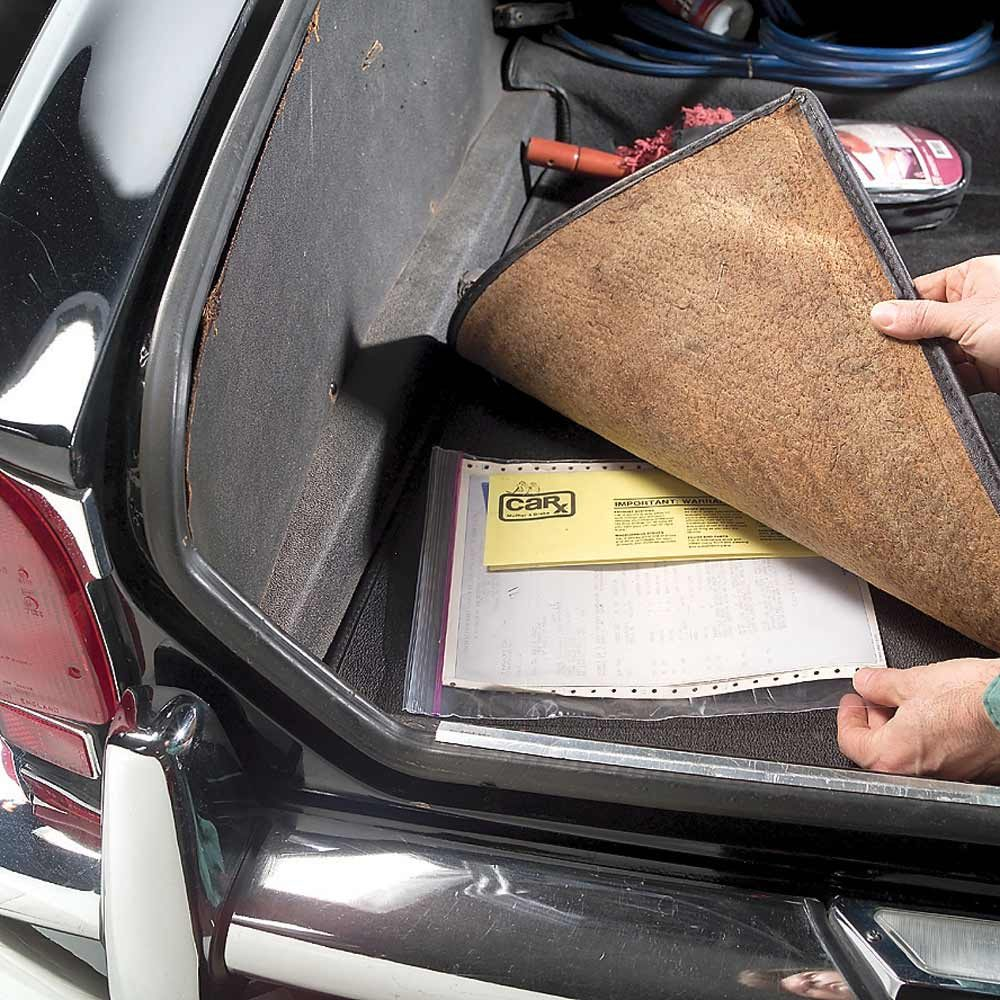 Car-Care File in the Trunk