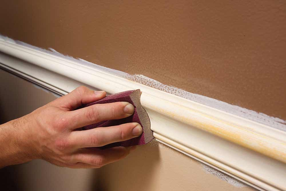 Use Sanding Sponges for Trim