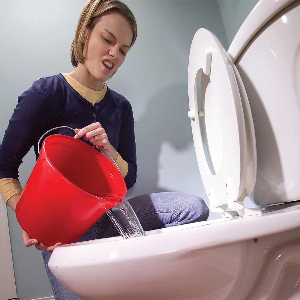 Flush with a Bucket