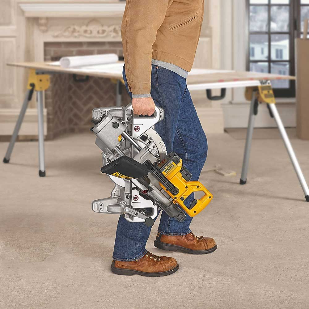 Non-Backbreaking Miter Saw