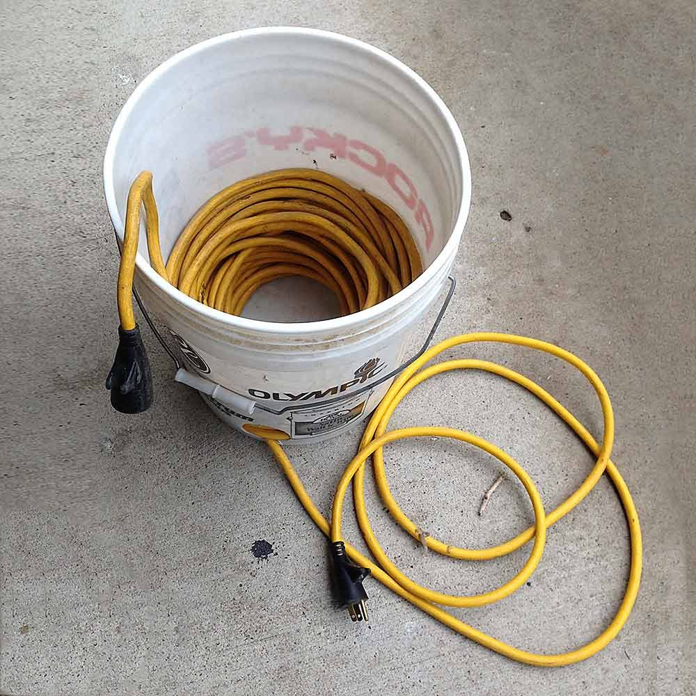 Cord in a Bucket