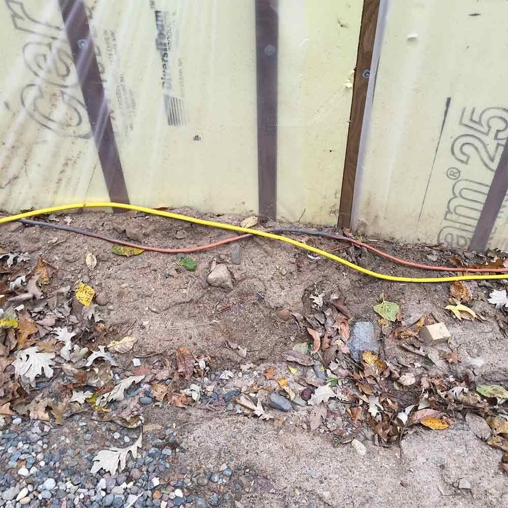 Run Cords Along the Building
