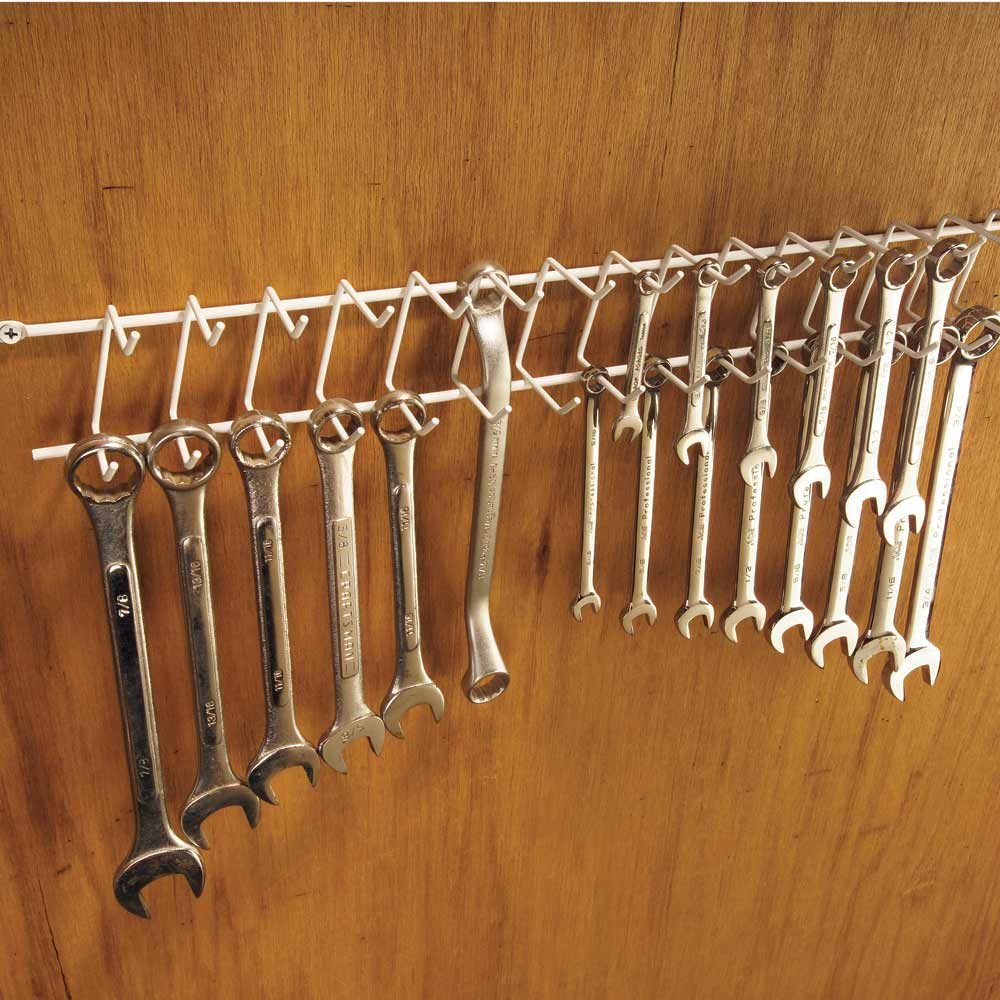 A Wrench Rack From the Clothes Closet