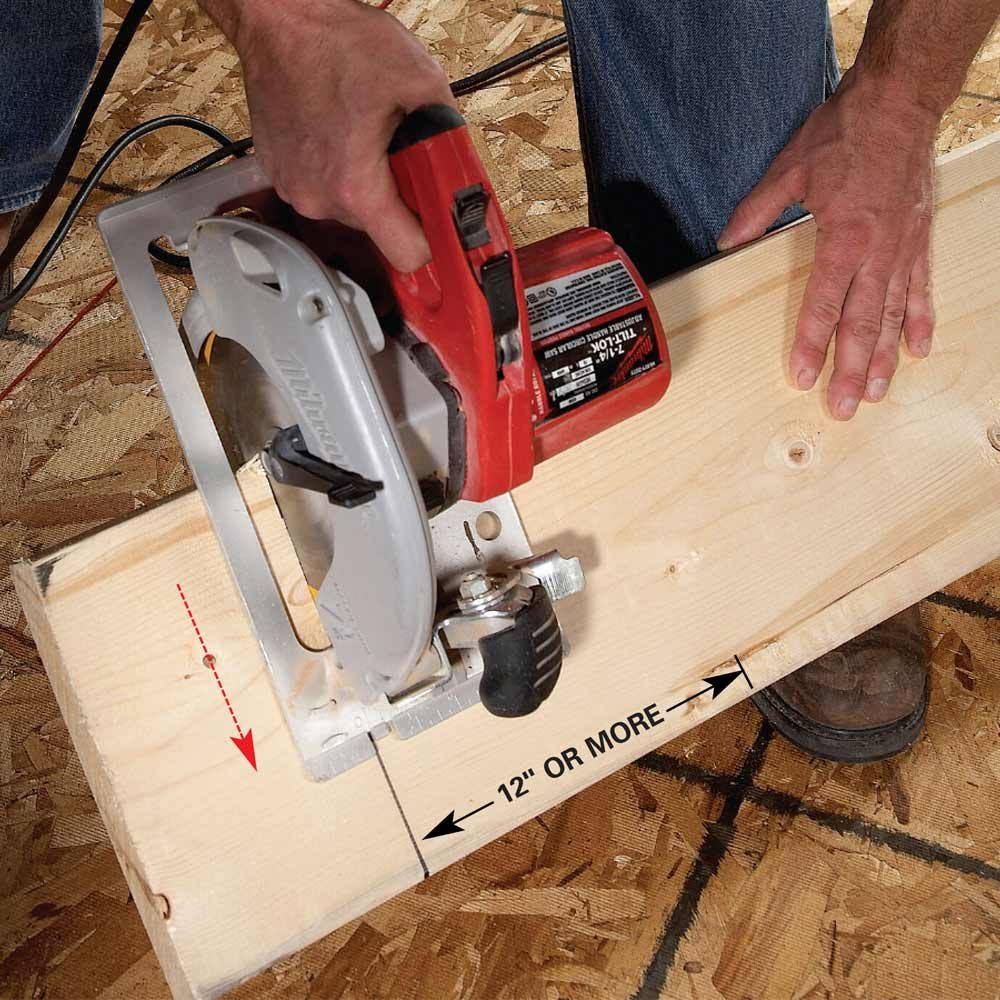 Cut Heavy Boards Without a Sawhorse