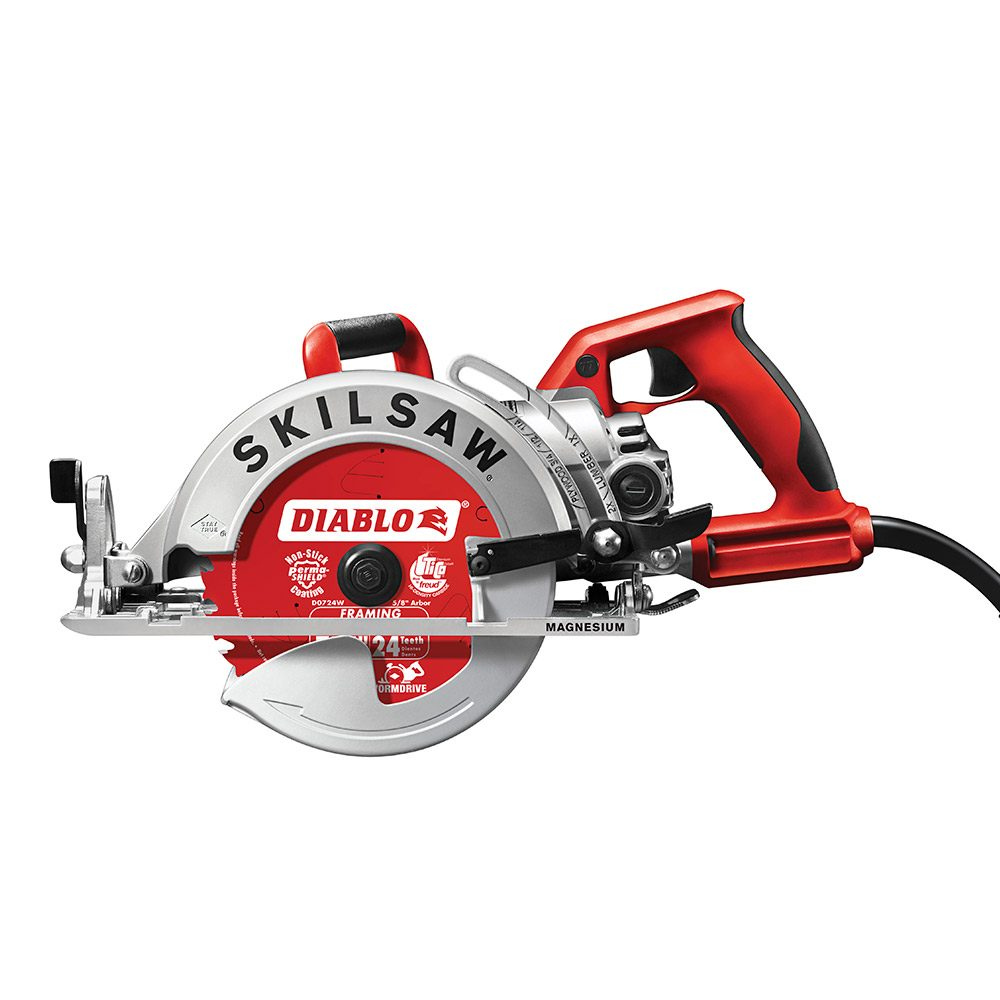 Lightweight, Feature-Packed Worm-Drive Saw