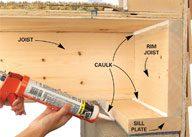 Seal Basement Air Leaks