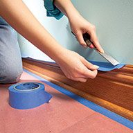Shelter Baseboard with Overhanging Tape