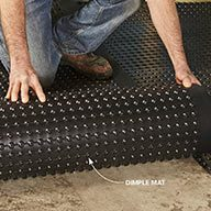 Install Drainage Mats for a Warmer, Drier Floor