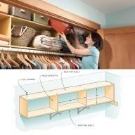 Two-Story Closet Shelves