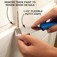 Clean Out Tight Areas and Fine Details With a 1-1/2-in. Flexible Putty Knife