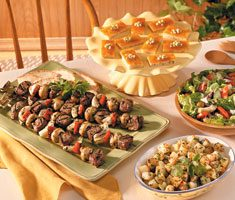 Lamb and Beef Kabobs Meal