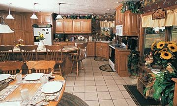 country kitchen, work area