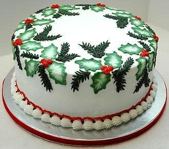 Christmas Cake Decoration Ideas Royal Icing : Brush Embroidery Cake Designs