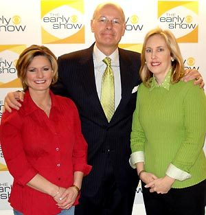 Taste of Home Editor In Chief Catherine Cassidy, Harry Smith of The Early Show and Grand Prize winner Trina Bigham