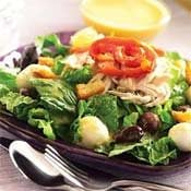 Chicken Salad with Mozzarella and Olives