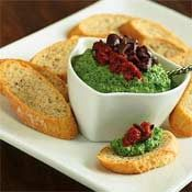 Crostini with Sun-Dried Tomato and Pecan Pesto