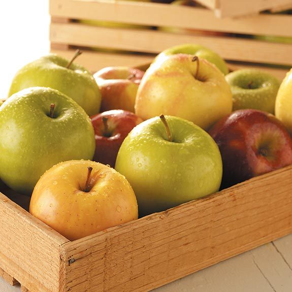 A crate of apples for apple pie