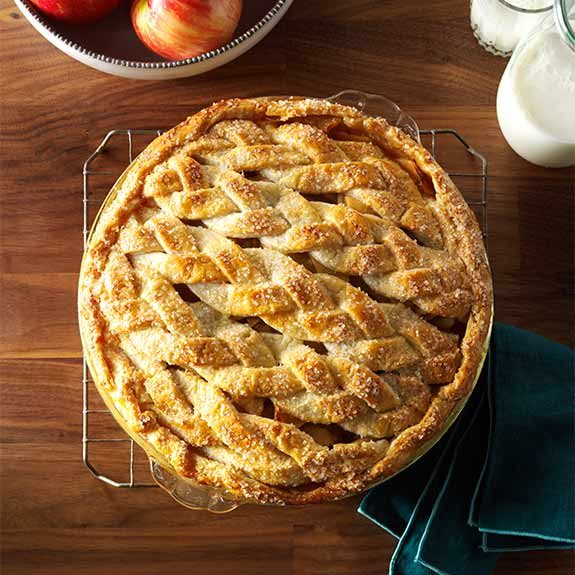 The Best Apple Pie recipe with a homemade braided crust from Taste of Home.