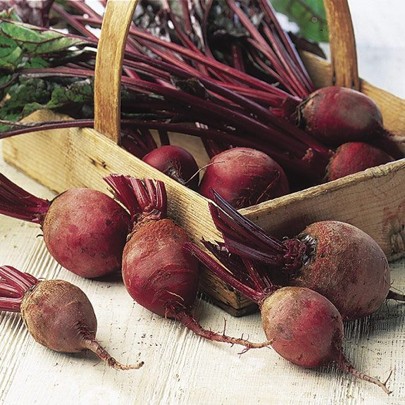 A basket of beets.