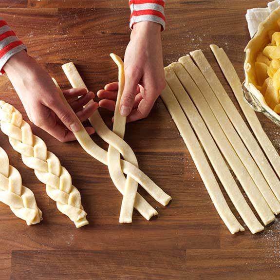 How to make a homemade braided pie crust for The Best Apple Pie recipe from Taste of Home.