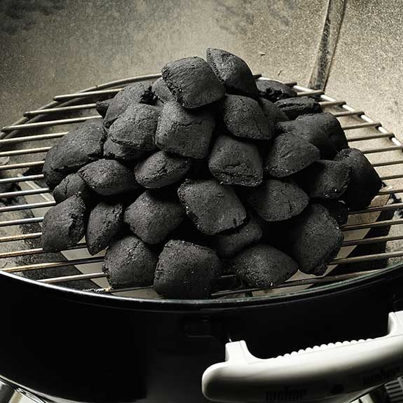 Light your charcoal grill pyramid-style