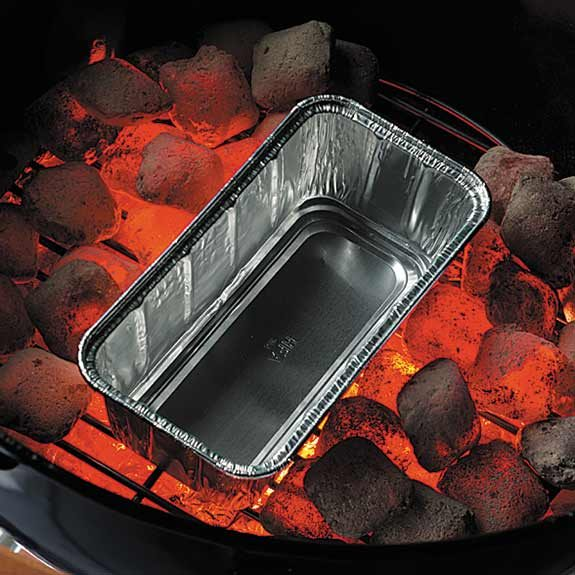 Preparing a charcoal grill for indirect heat