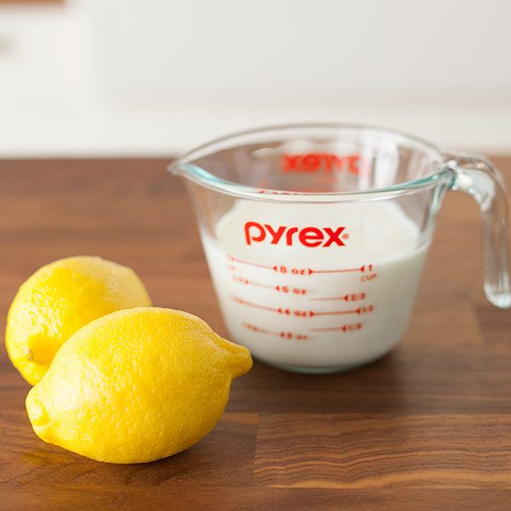 Make buttermilk at home with lemons or other handy ingredients.