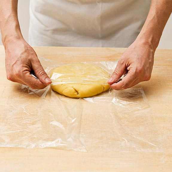 How to wrap pastry dough in plastic for The Best Apple Pie recipe from Taste of Home.