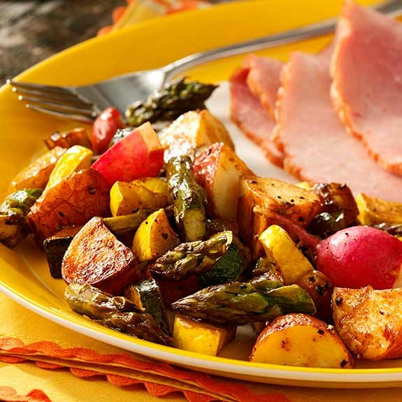 Roasted vegetables make an excellent side dish at any time of year.