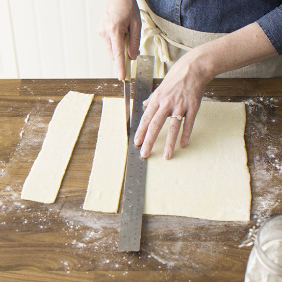 How to cut puff pastry for Puff Pastry Chicken Potpie recipe from Taste of Home.