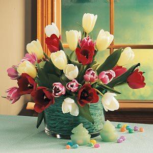 April: Tulip Centerpiece