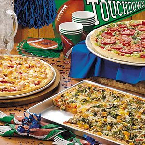 Group image of three pizzas