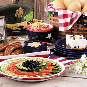 Group photo of Patriotic Picnic dishes