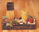 Fill container with natural materials