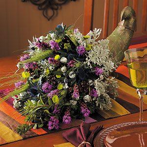 Floral Cornucopia Centerpiece