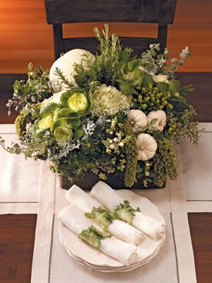 Create a unique and elegant centerpiece that can be used as a fall wedding