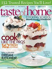 Taste of Home Cooking School Brand Name Cookbook Spring 2009